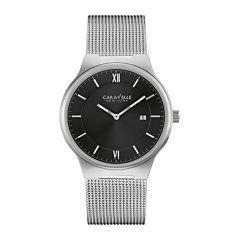 Caravelle New York® Mens Stainless Steel Mesh Watch 43B145