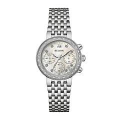 Bulova® Diamonds Maiden Lane Womens Diamond-Accent Bracelet Watch 96R204
