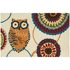 Nourison® Washable Owl Rectangular Rug