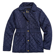 Girls Lightweight Puffer Jacket-Big Kid