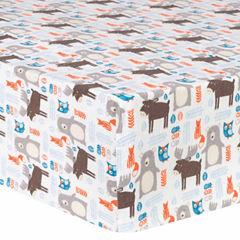 Trend Lab Scandi Forrest Flannel  Crib Sheet