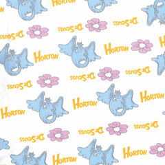 Trend Lab Dr Seuss Horton Flannel  Crib Sheet