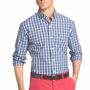 IZOD® Long-Sleeve Strech Plaid Button-Front Shirt