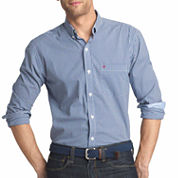 IZOD® Long-Sleeve Advantage Non Iron Plaid Shirt