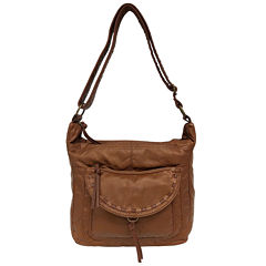 St. John's Bay® Washed Flap Pocket Hobo Bag
