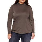 St. John`s Bay Mock Neck Top