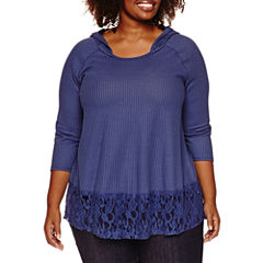 Unity World Wear 3/4 Sleeve Scoop Neck Blouse-Plus