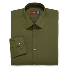 J.Ferrar Easy-Care Solid-Big & Tall Long Sleeve Dress Shirt