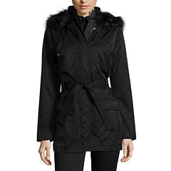 a.n.a® Long-Sleeved Faux-Fur-Trim Belted Parka - Tall