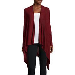 Worthington® Long-Sleeve Y-Back Flyaway Cardigan - Tall
