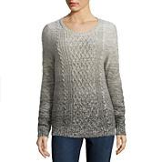 St. John's Bay® Ombré Cable Sweater or Straight-Leg Corduroy Pants - Petites