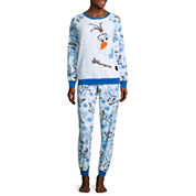 Disney Olaf Pant Pajama Set-Juniors