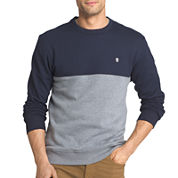 Izod® Advantage Colorblock Crewneck Fleece