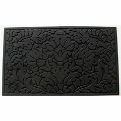Leaf Scroll Rectangular Doormat - 18