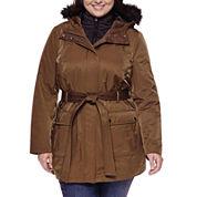 a.n.a® Long-Sleeve Faux-Fur Trim Belted Parka - Plus