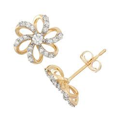 1/4 CT. T.W. Round White Diamond 10K Gold Stud Earrings