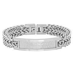 Mens 8.5 Inch Stainless Steel Chain Bracelet