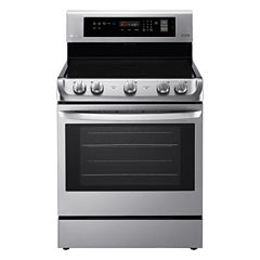 LG 6.3 cu. ft. Capacity Electric Single Oven Range with ProBake Convection™ and EasyClean®