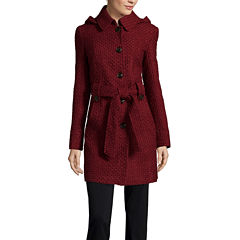 Liz Claiborne® Belted Pea Coat - Tall