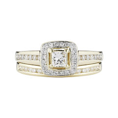 1 CT. T.W. Certified Diamond 14K Yellow Gold Bridal Ring Set