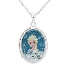 Disney Elsa Girls Oval Shaker Pendant Necklace