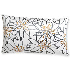 Royal Velvet® Cool White Print Oblong Decorative Pillow