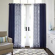 JCPenney Home™ Cotton Classics Broken Chevron Grommet-Top Curtain Panel