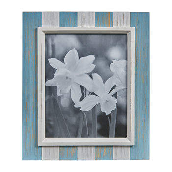 Danya B Blue Grey And White Distressed Wood Plank 8 X 10 1 opening Tabletop Frame