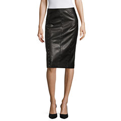 Worthington Faux Leather Studded Pencil Skirt