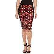 Bisou Bisou Lace Up Pencil Skirt