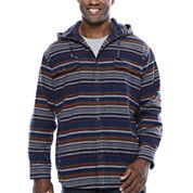 The Foundry Big & Tall Supply Co. Long Sleeve Flannel Hoodie Big and Tall