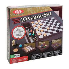 Ideal Premium Wood Cabinet 10 Game Set Board Game