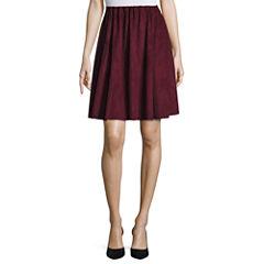 Worthington Solid Knit Pleated Skirt