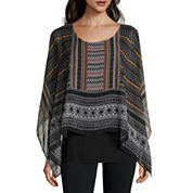 Alyx Short Sleeve Scoop Neck Poncho