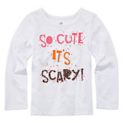 Okie Dokie® Long-Sleeve Seasonal Tee - Toddler Girls 2t-5t
