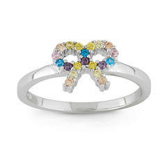 Girls Multi Color Cubic Zirconia Delicate Ring
