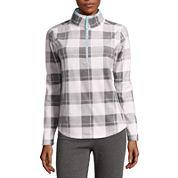Made for Life™ Long-Sleeve 1/4-Zip Brushed Fleece or Knit Slim Leg Pants