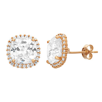 4 Ct Tw Lab Created White Cubic Zirconia 10k Gold 103mm Stud Earrings