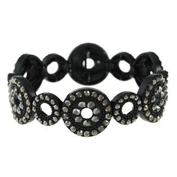 Liz Claiborne Gray Round Stretch Bracelet