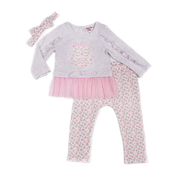 Little Lass Girls 3 pc Pant Set Baby