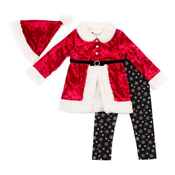 Little Lass Christmas Girls 3 pc Legging Set baby