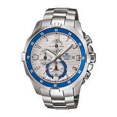 Casio® Edifice Marine Mens Silver-Tone Chronograph Watch EFM502D-7A