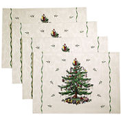 Avanti Spode® Christmas Tree Set of 4 Placemats