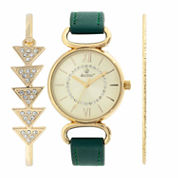 Decree Womens Gold Tone Watch Boxed Set-Dcr271ls