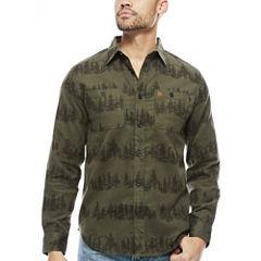 Coleman Long Sleeve Pattern Button-Front Shirt