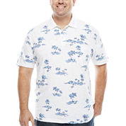 The Foundry Big & Tall Supply Co. Short Sleeve Pattern Jersey Polo Shirt Big and Tall