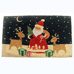 Santa's Reindeer Rectangle Doormat - 18