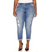 Love Indigo Multi-Patch Skinny Jeans