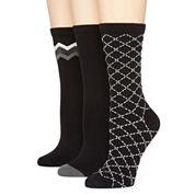 Mixit Microfiber 3pk Crew Socks