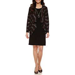 R & K Originals Long Sleeve Jacket Dress-Petites